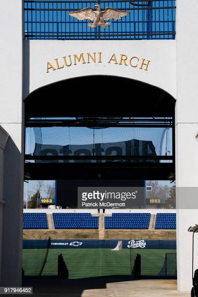 An exterior view during a tour of the NavyMarine Corps Memorial Stadium the site of the 2018 Coors Light NHL Sadium Series game between the Toronto...