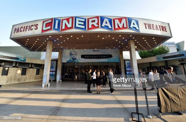 An exterior view during Apple Music Presents Songwriter With Ed Sheeran in Los Angeles at ArcLight Cinemas Cinerama Dome on August 27 2018 in...