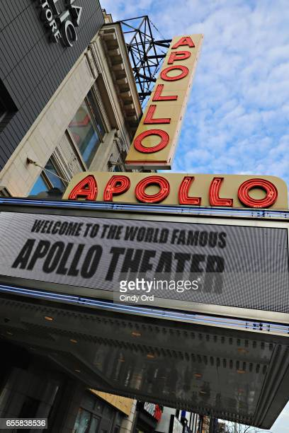 An exterior view during GRAMMY Pro Songwriters Summit Women Making Music at The Apollo Theater on March 20 2017 in New York City