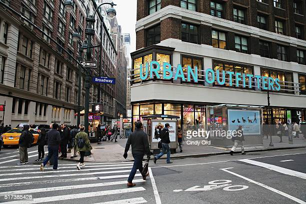 An exterior view during the Obsessive Compulsive Cosmetics launch at Urban Outfitters on March 24 2016 in New York City