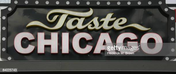 "An exterior view during the taping of a segment of ""The Late Late Show with Craig Ferguson"" at the Taste of Chicago restaurant on December 13, 2008..."