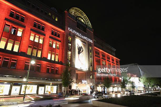 An exterior view is pictured during the grand opening of 'The New Luxury Beauty The Loft' at KaDeWe department store on September 25 2012 in Berlin...