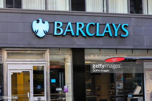 An exterior view of a Barclays Bank branch in central London.