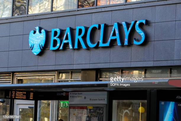 An exterior view of a Barclays Bank branch in central London