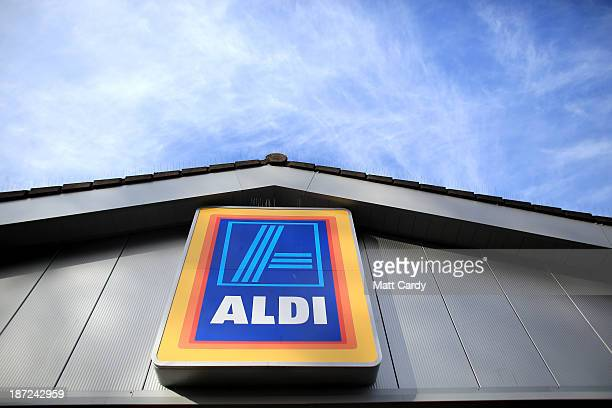 An exterior view of a branch of the budget supermarket Aldi on November 7 2013 in Bristol England As the German chain opens its 500th store in the...