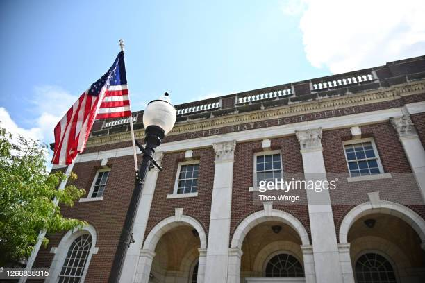 An exterior view of a post office on August 17, 2020 in Morristown, New Jersey. Postmaster General Louis DeJoy has accepted House Democrats' request...