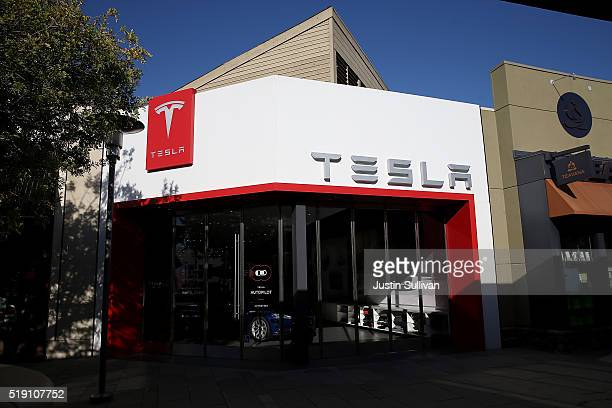 An exterior view of a Tesla showroom on April 4 2016 in Corte Madera California Worldwide preorders for Tesla's upcoming Model 3 have surpassed...