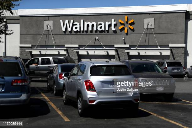 An exterior view of a Walmart store on September 03, 2019 in San Leandro, California. Walmart, America's largest retailer, announced that it will...