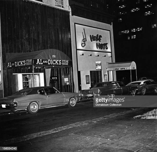 An exterior view of Al and Dick's Steakhouse and the Half Note on April 17 1973 in New York New York