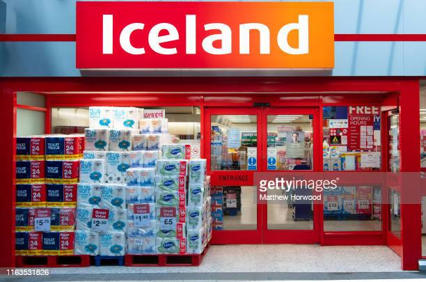 An exterior view of an Iceland store on June 7 2019 in Cardiff United Kingdom