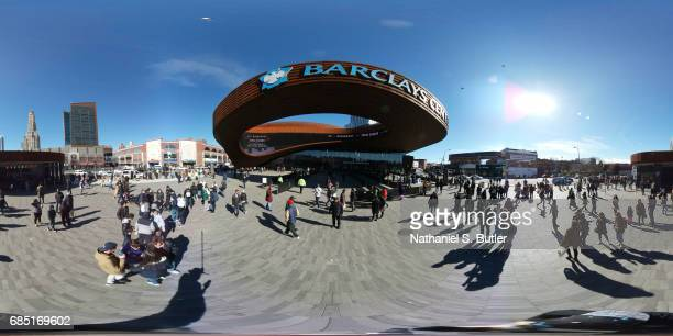 An exterior view of Barclays Center in Brooklyn New York on April 8 2017 NOTE TO USER User expressly acknowledges and agrees that by downloading...