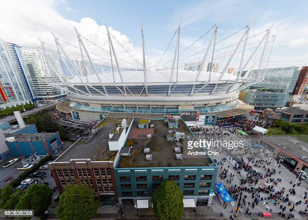 An exterior view of BC Place before U2's 'The Joshua Tree' world tour opener on May 12, 2017 in Vancouver, Canada.