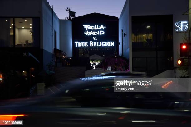 An exterior view of Bella Hadid x True Religion Event Campaign Party at Poppy on October 18 2018 in Los Angeles California