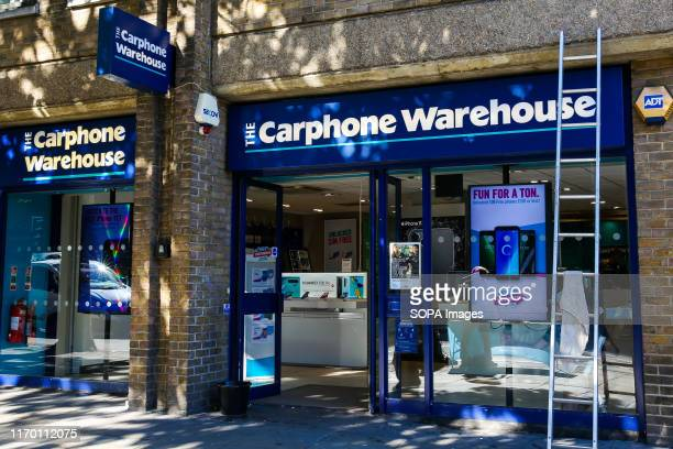 An exterior view of Carphone Warehouse in central London