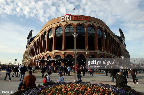 An exterior view of Citi Field before the New York Mets played the San Diego Padres on April 15, 2009 in the Flushing neighborhood of the Queens...