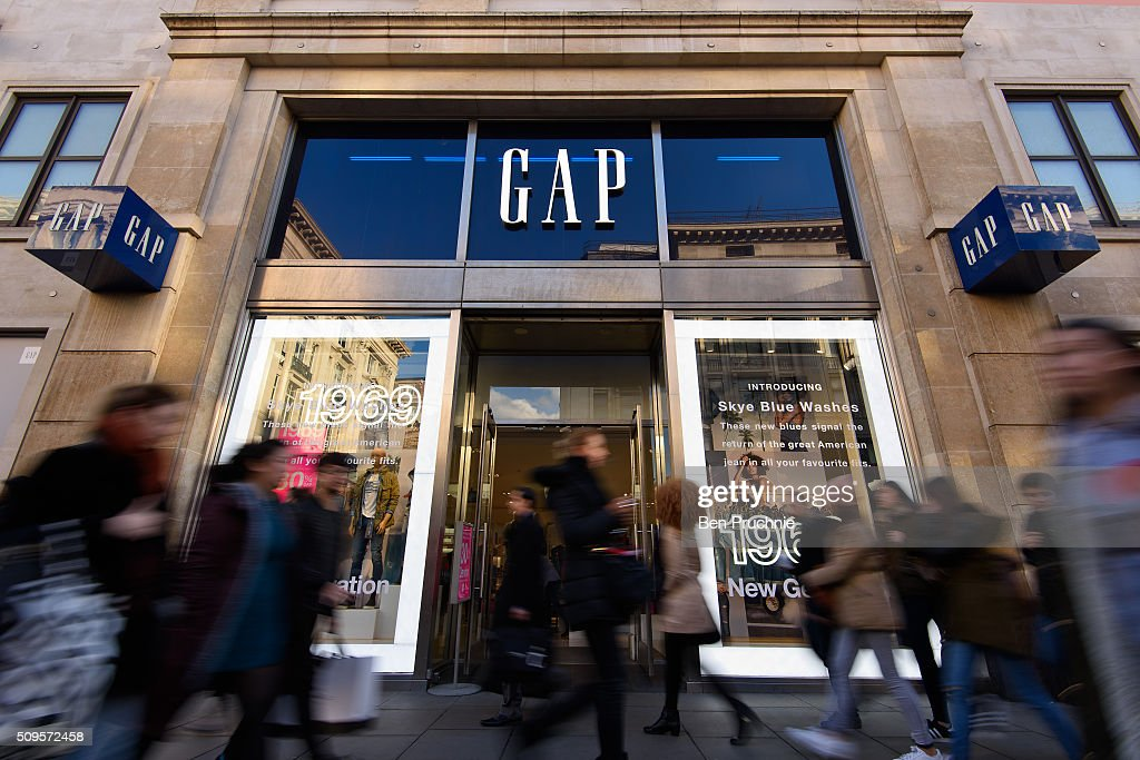 Fashion Store Gap Are The Latest American Company Facing British Tax Questions : News Photo
