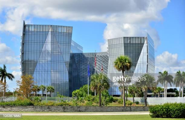 An exterior view of FBI Miramar Headquarters where suspect Cesar Sayoc and his van are bieng housed on October 26, 2018 in Miramar, Florida. Cesar...