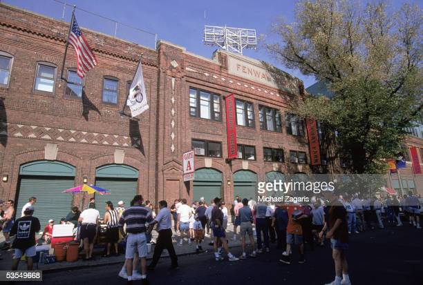 An Exterior View of Fenway Park circa 1996 in Boston Massachusetts