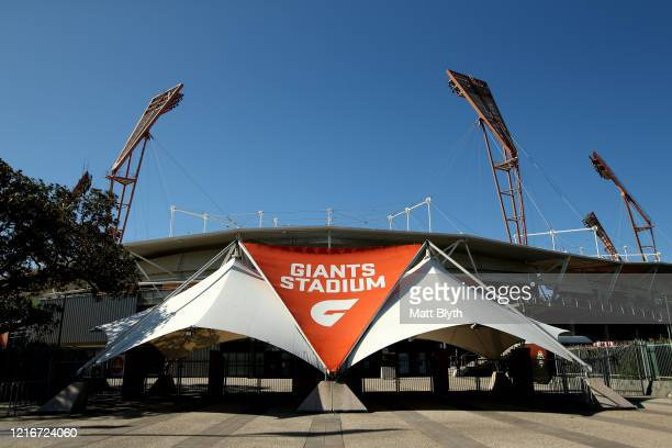An exterior view of GIANTS Stadium on April 04 2020 in Sydney Australia Sport and events held at the stadium continue to be postponed and cancelled...