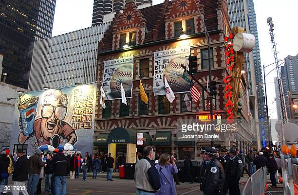An exterior view of Harry Caray's Restaurant where the cursed Chicago Cubs baseball was destroyed on February 26 2004 in Chicago Illinois The alleged...