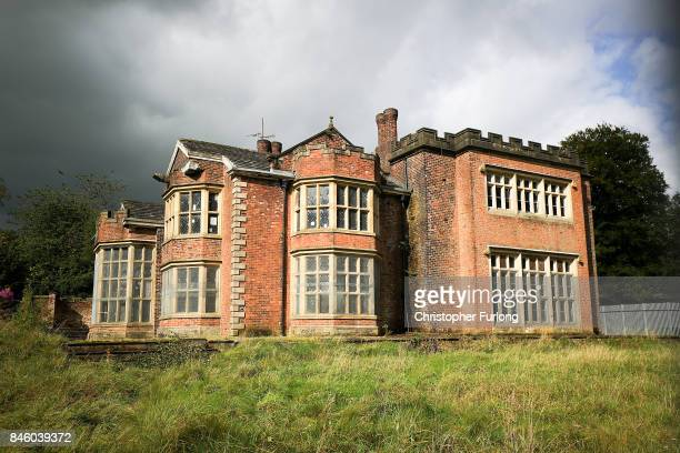 An exterior view of Hopwood Hall which US film actor Hopwood DePree XIV hopes to restore to its former glory on September 12 2017 in Middleton...