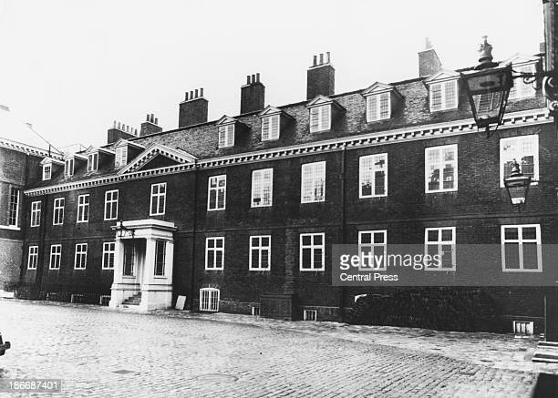 An exterior view of Kensington Palace London March 1961