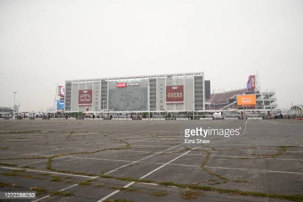 An exterior view of Levi's Stadium before the San Francisco 49ers game against the Arizona Cardinals on September 13, 2020 in Santa Clara, California.
