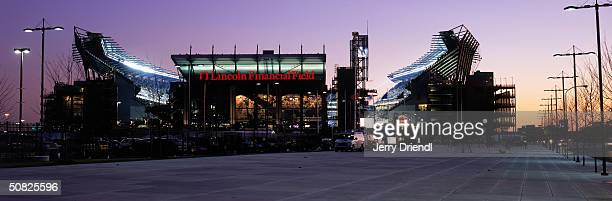 An exterior view of Lincoln Financial Field during the game between the Philadelphia Eagles and the Dallas Cowboys on December 7 2003 in Philadelphia...