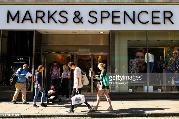 An exterior view of Marks and Spencer in central London