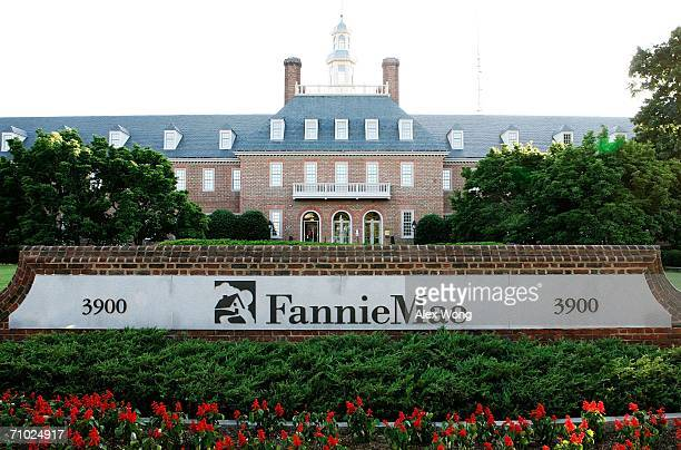 An exterior view of mortgage finance giant Fannie Mae is seen May 23 2006 in Washington DC Fannie Mae will be fined $400 million for its violations...
