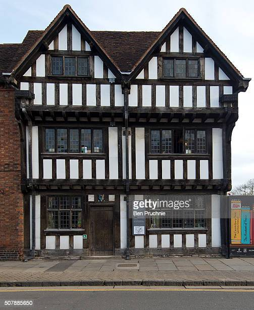 An exterior view of New Place the final home of William Shakespeare ahead of the 400th anniversary of Shakespeare's death on February 1 2016 in...
