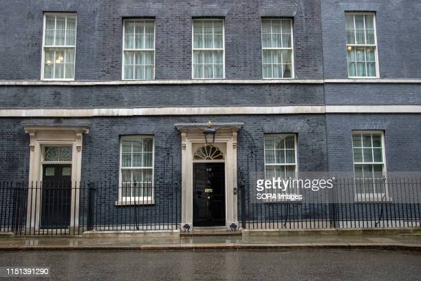 An exterior view of No 10 Downing Street, Westminster in London.