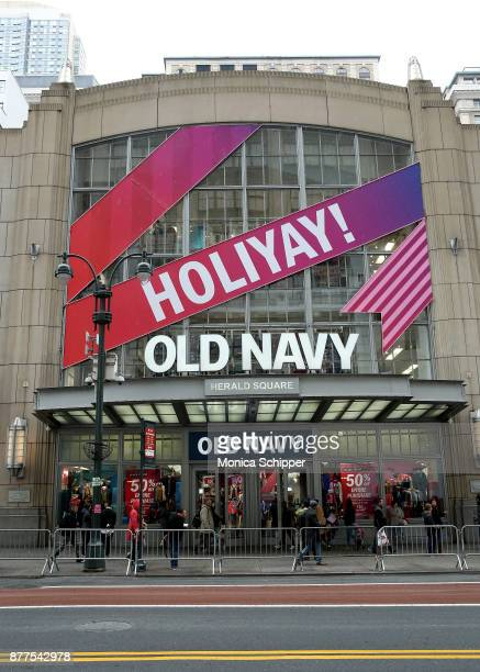 An exterior view of Old Navy during Old Navy Black Friday Shopping 2017 on November 22 2017 in New York City