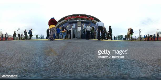 An exterior view of Oracle Arena during the 2017 NBA Playoffs in Oakland California on May 16 2017 NOTE TO USER User expressly acknowledges and...