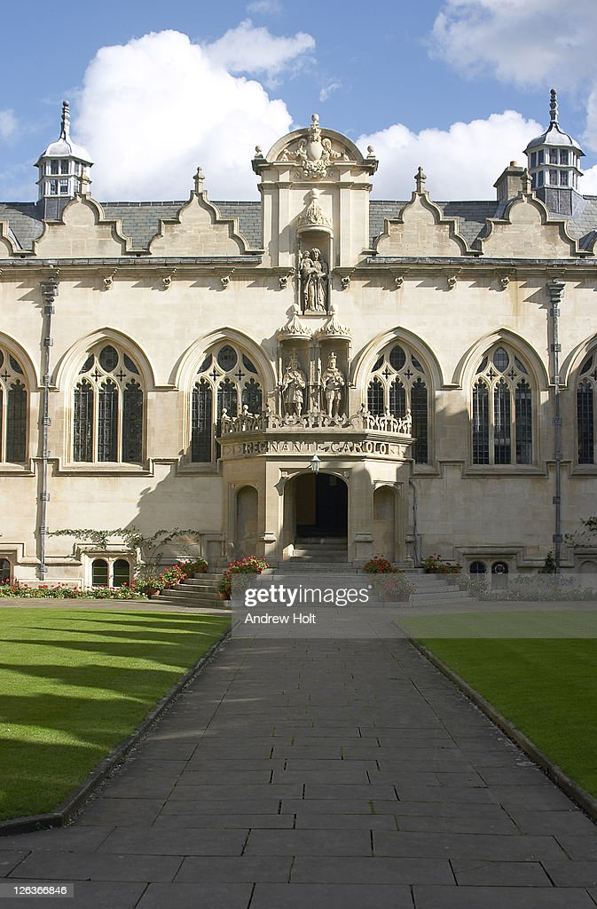 An Exterior View Of Oriel College Oxford Oriel College Located In - Where is oxford located
