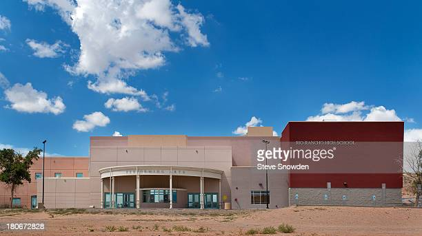 An exterior view of Rio Rancho High School on September 02 2013 in Albuquerque New Mexico Rio Rancho High appeared in the 'Breaking Bad' pilot and...