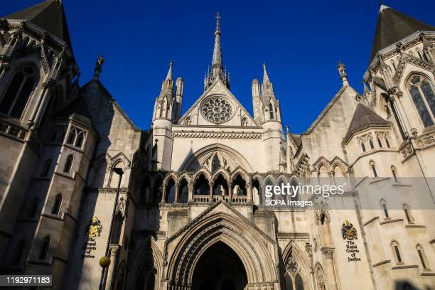 An exterior view of Royal Courts of Justice in Strand, London.