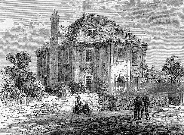 An exterior view of Russian Tsar Peter The Great's house in Deptford London 1850 Peter The Great lived in England for four months and studied...