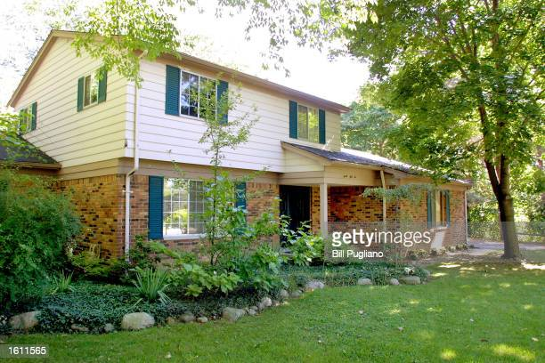 An exterior view of singer Madonna''s childhood home August 29 2001 in Rochester Hills MI The house is for sale on the Ebaycom website with current...