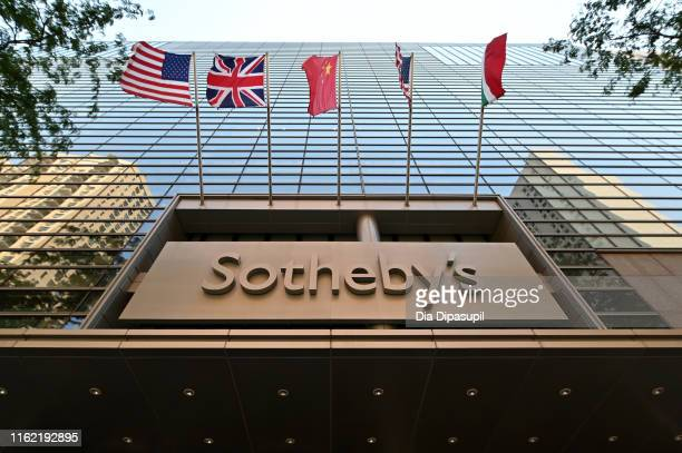 An exterior view of Sotheby's on July 15 2019 in New York City