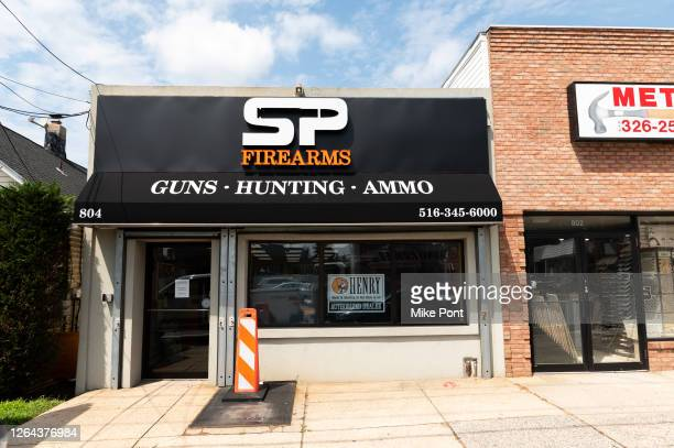 An exterior view of SP Firearms Unlimited as the city continues Phase 4 of re-opening following restrictions imposed to slow the spread of...