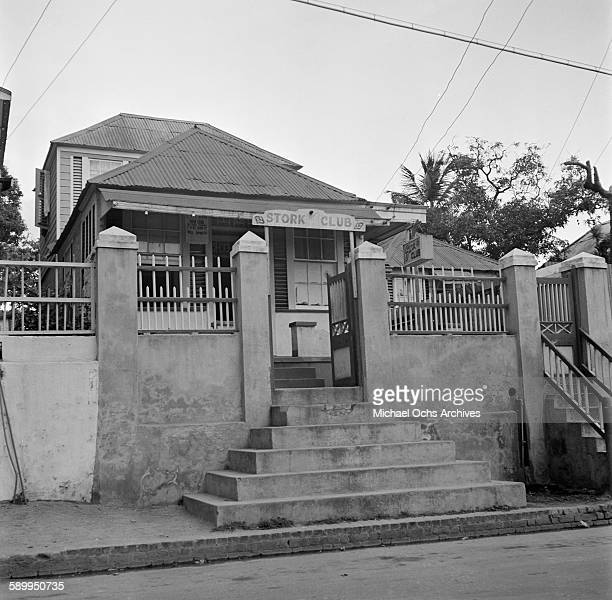 An exterior view of Stork Club in Kingston Jamaica