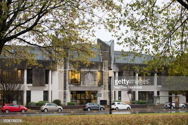An exterior view of Swansea Crown Court on November 21, 2016 in Swansea, United Kingdom.