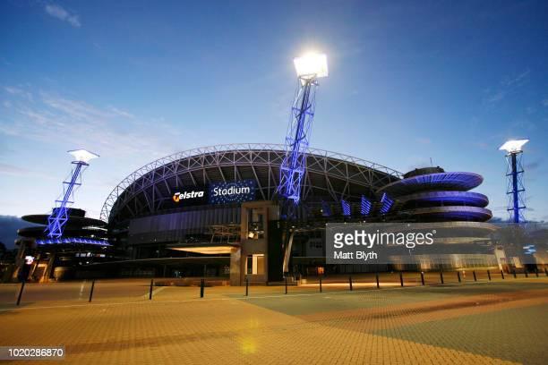 An exterior view of Telstra Stadium at Sydney Olympic Park on November 8, 2007 in Sydney, Australia.
