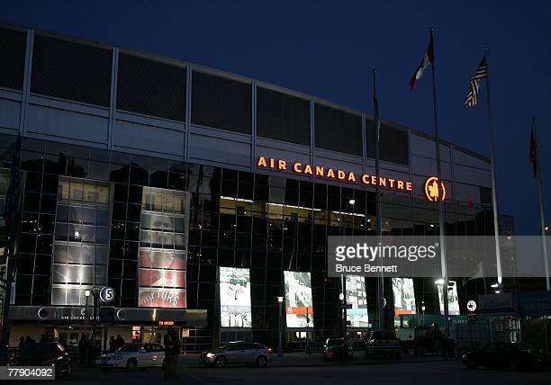 An exterior view of the Air Canada Centre prior to a game between the Montreal Canadiens and the Toronto Maple Leafs on November 13 2007 in Toronto...