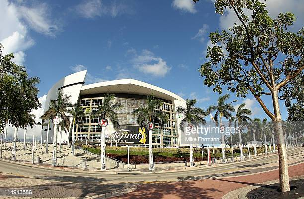 An exterior view of the American Airlines Arena before the start Game 1 of the 2011 NBA Finals between the Miami Heat and the Dallas Mavericks on May...