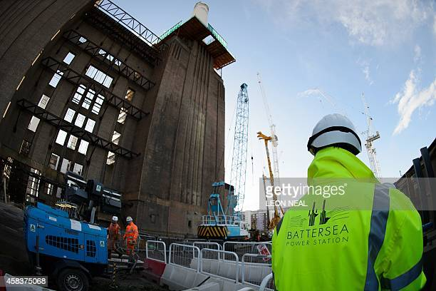 An exterior view of the Battersea Power Station is pictured in central London on October 21 2014 After 30 years of languishing by the River Thames...