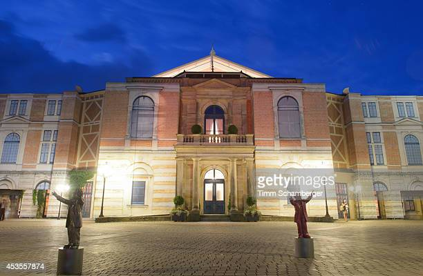 An exterior view of the Bayreuth Festival Theatre on August 12, 2014 in Bayreuth, Germany.
