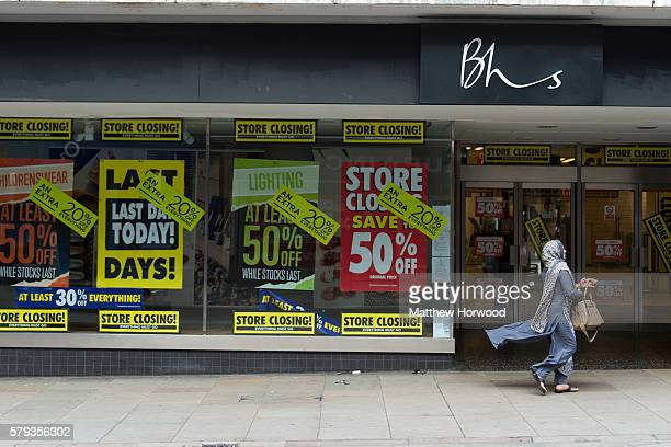 An exterior view of the BHS store on Commercial Street on July 23 2016 in Newport Wales The store is one of 20 stores across the UK to close today...