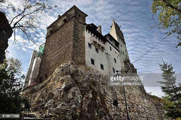An exterior view of the Bran Castle is pictured in Bran Romania on October 18 2016 Armed with courage and hopefully garlic two horror fans dying for...